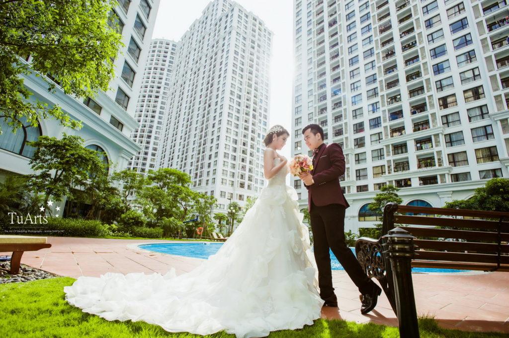 Không ít các bộ ảnh cưới đẹp đều được thực hiện tại Phú Mỹ Hưng