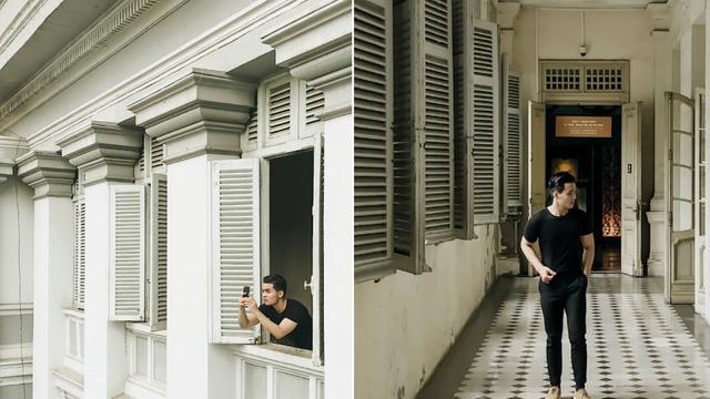 Selfie tại bảo tàng thành phố Hồ Chí Minh