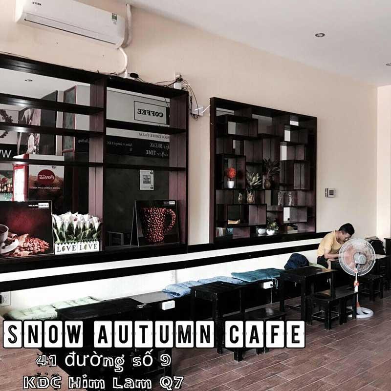 Quán cafe quận 7 - Snow Autumn Cafe