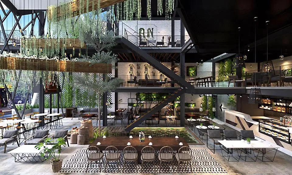 Không gian tại AN' Garden Coffee cực rộng, đẹp và gần gũi với thiên nhiên