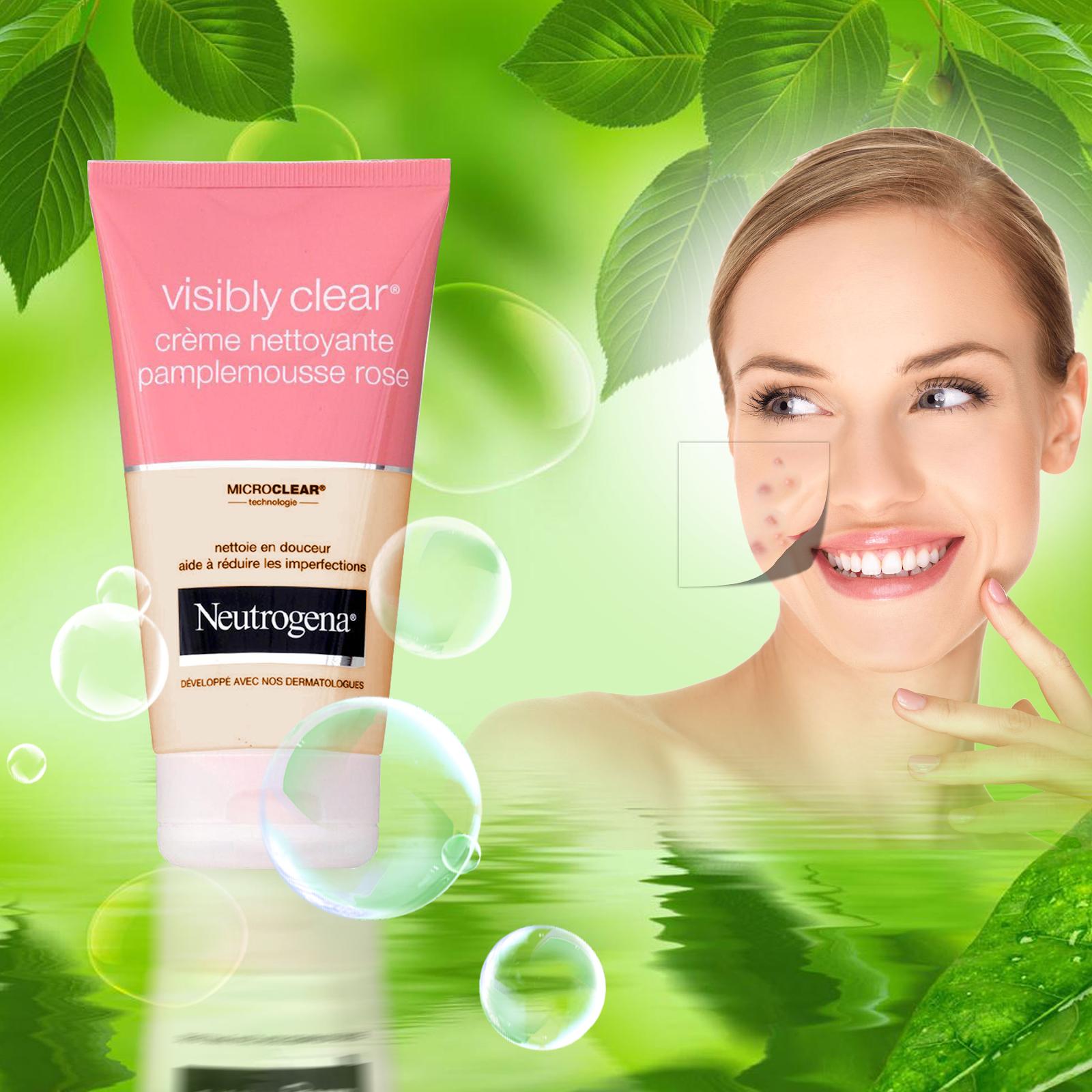Sử dụng SRM Neutrogena Visibly Clear đúng cách để có làn da đẹp