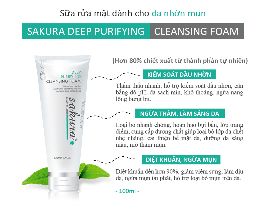 Sữa rửa mặt làm sạch sâu Deep Purifying Cleansing Foam