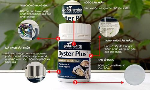 Cách phân biệt sản phẩm Oyster Plus thật và giả