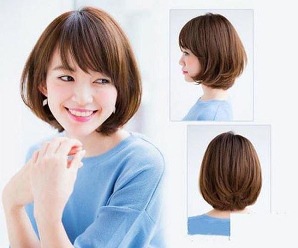 Hình ảnh tóc ngắn uốn cụp tầng
