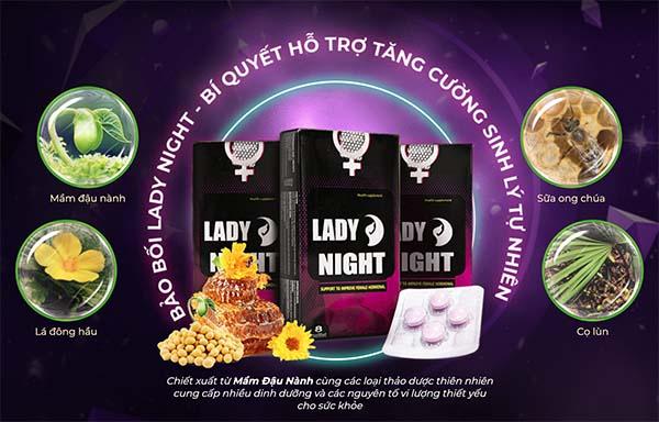 Thành phần của thực phẩm chức năng Lady Night