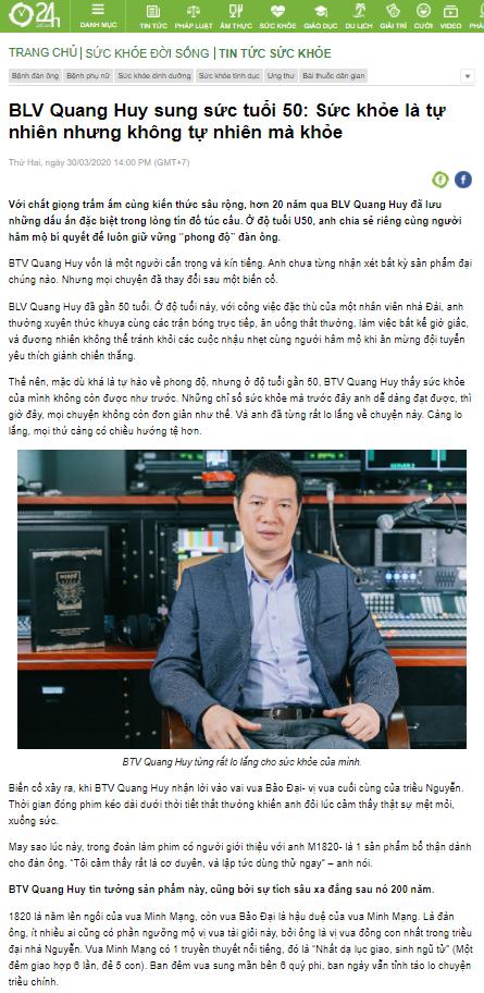 """BTV Quang Huy chia sẻ: """"M1820 giúp quý ông trở thành vị vua phòng thủ""""."""