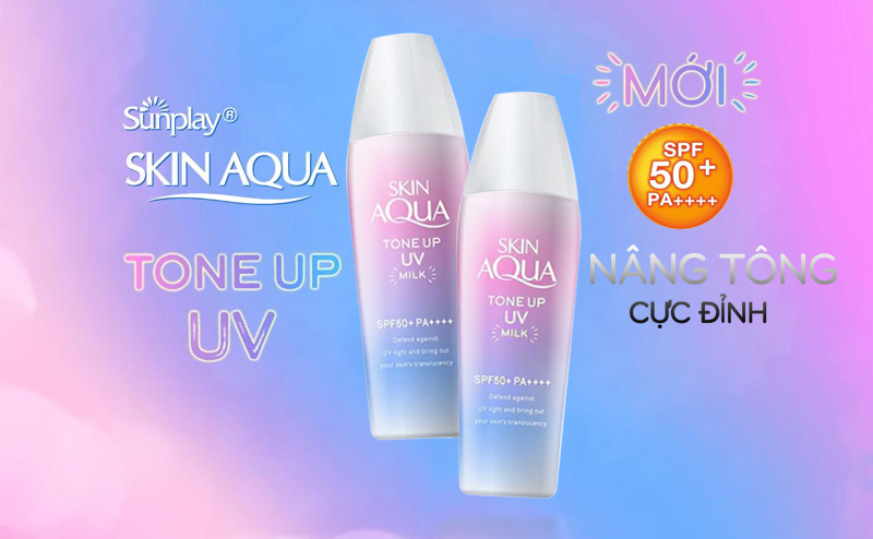 Kem chống nắng Sunplay Skin Aqua Tone Up UV Milk/ Gel