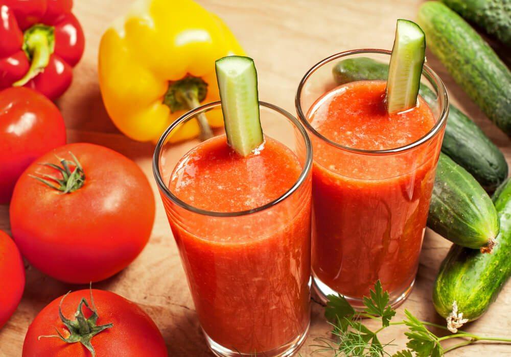 Cách làm nước ép cà chua, dưa chuột vô cùng đơn giản