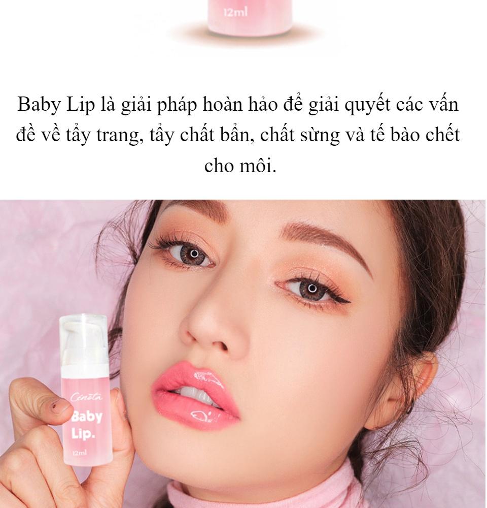 Sử dụng Baby Lip để tẩy da chết cho môi