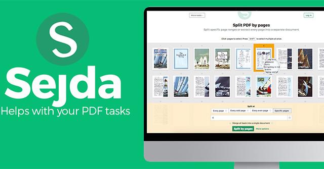 Chỉnh sửa file PDF hiệu quả với Sejda