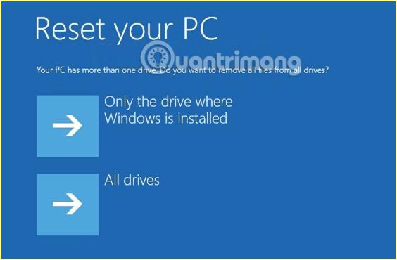 Lựa chọn xóa 1 hay nhiều ổ trên máy tính