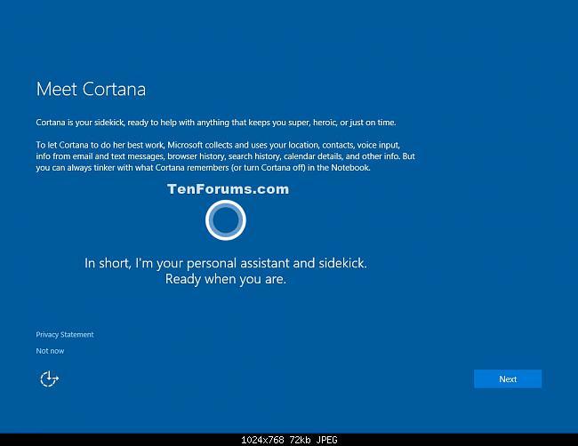 Sử dụng Cortana cùng tài khoản Microsoft