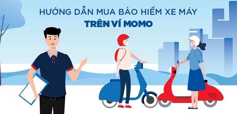Có thể mua bảo hiểm xe máy online trên MoMo