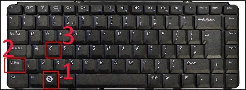 chụp màn hình laptop Dell