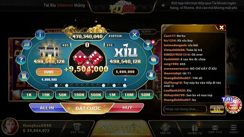 cổng game đổi thưởng yo88